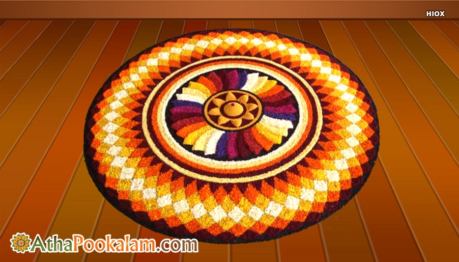 3D Images Pookalam Designs