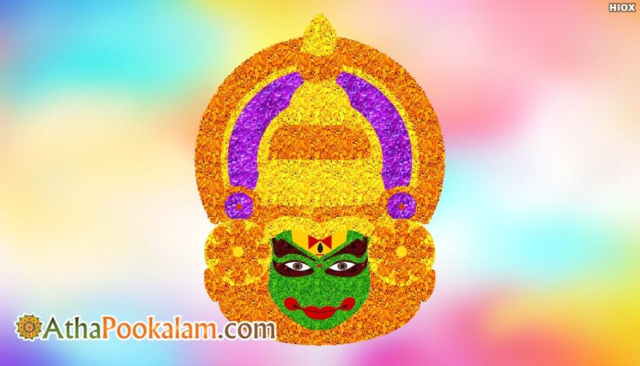 Athapookalam Kathakali Design