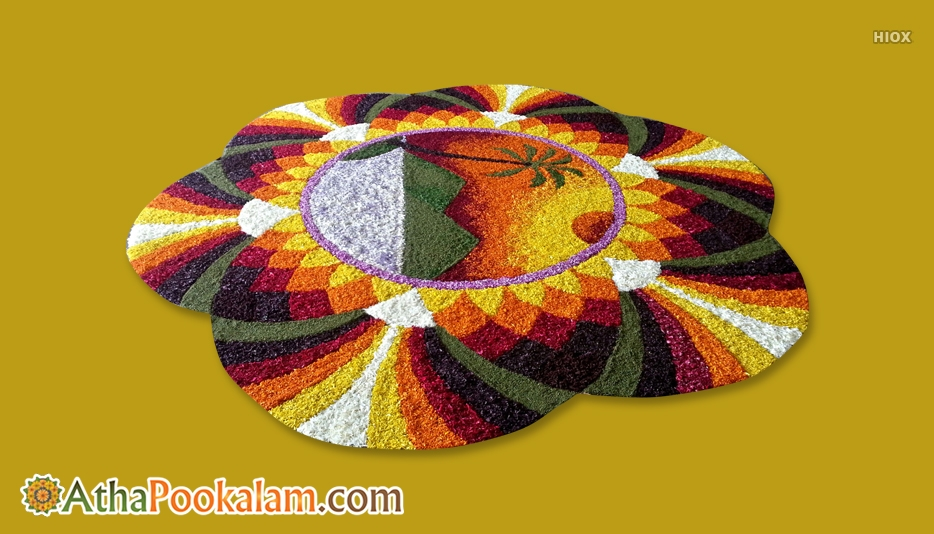 Colorful Pookalam Designs