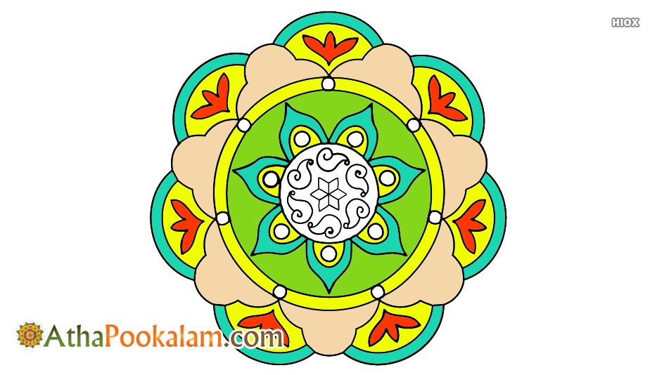 Athapookalam Outline Designs
