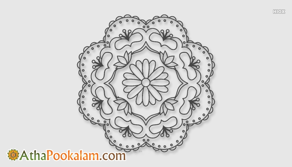 Athapookalam Outline Images, Designs