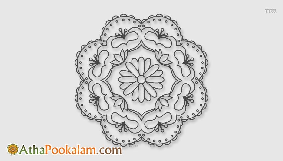 Athapookalam Drawings