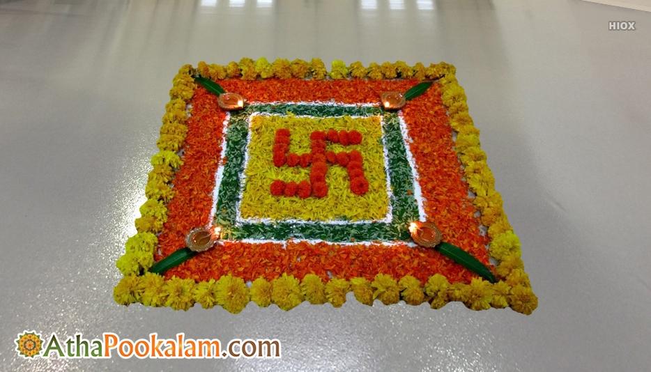 3D Images Pookalam Designs