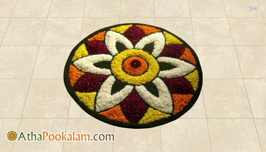 Traditional Athapookalam Designs