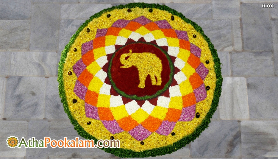 Modern Onam Athapookalam - Modern Athapookalam Designs, Images