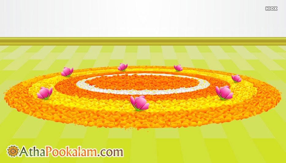 Onam Pookalam Design
