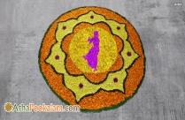 Modern Onam Athapookalam Image