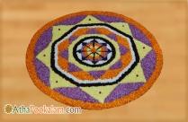 Onam Athapookalam Simple Designs